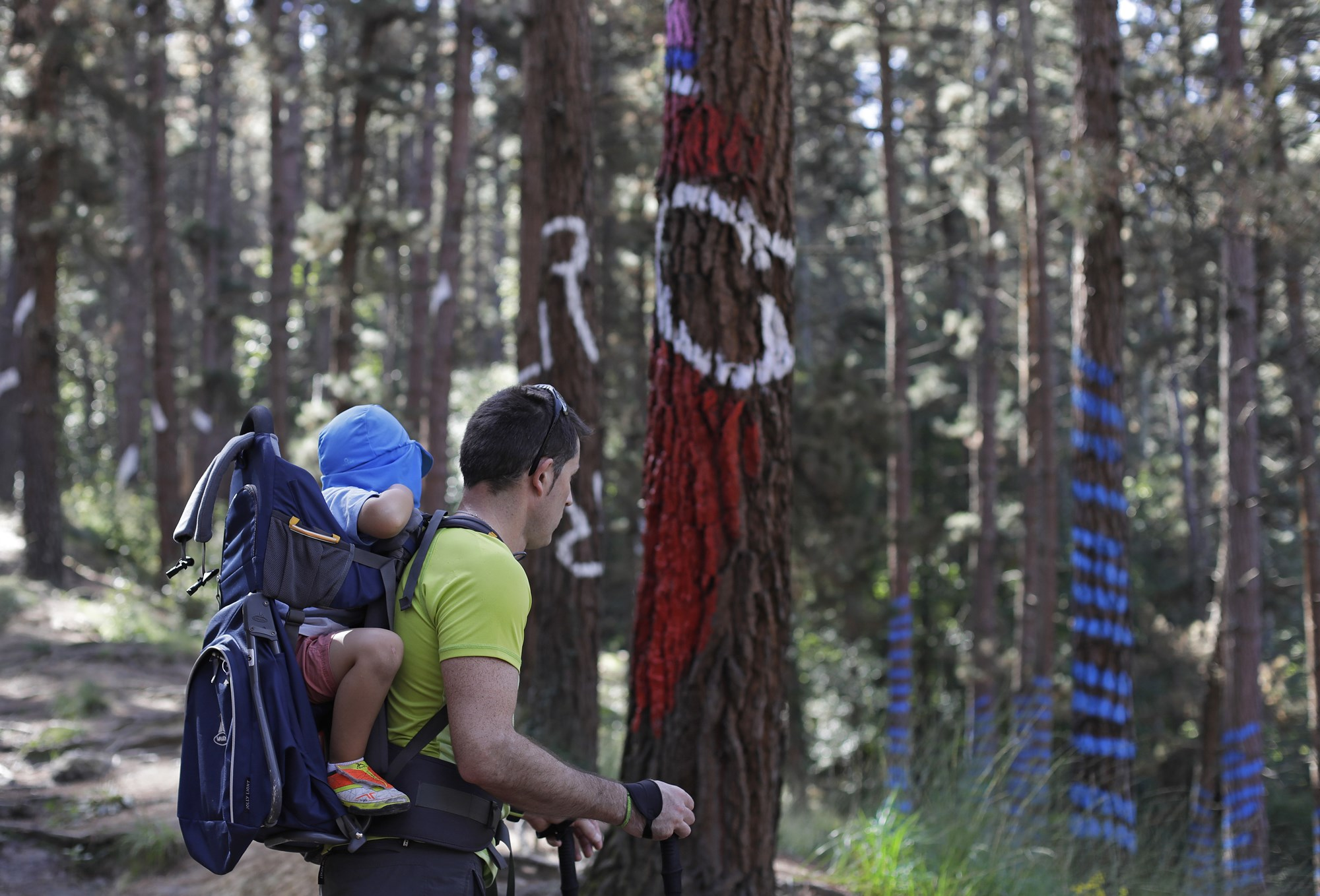 El recorrido es fácil de realizar, incluso con niños muy pequeños.