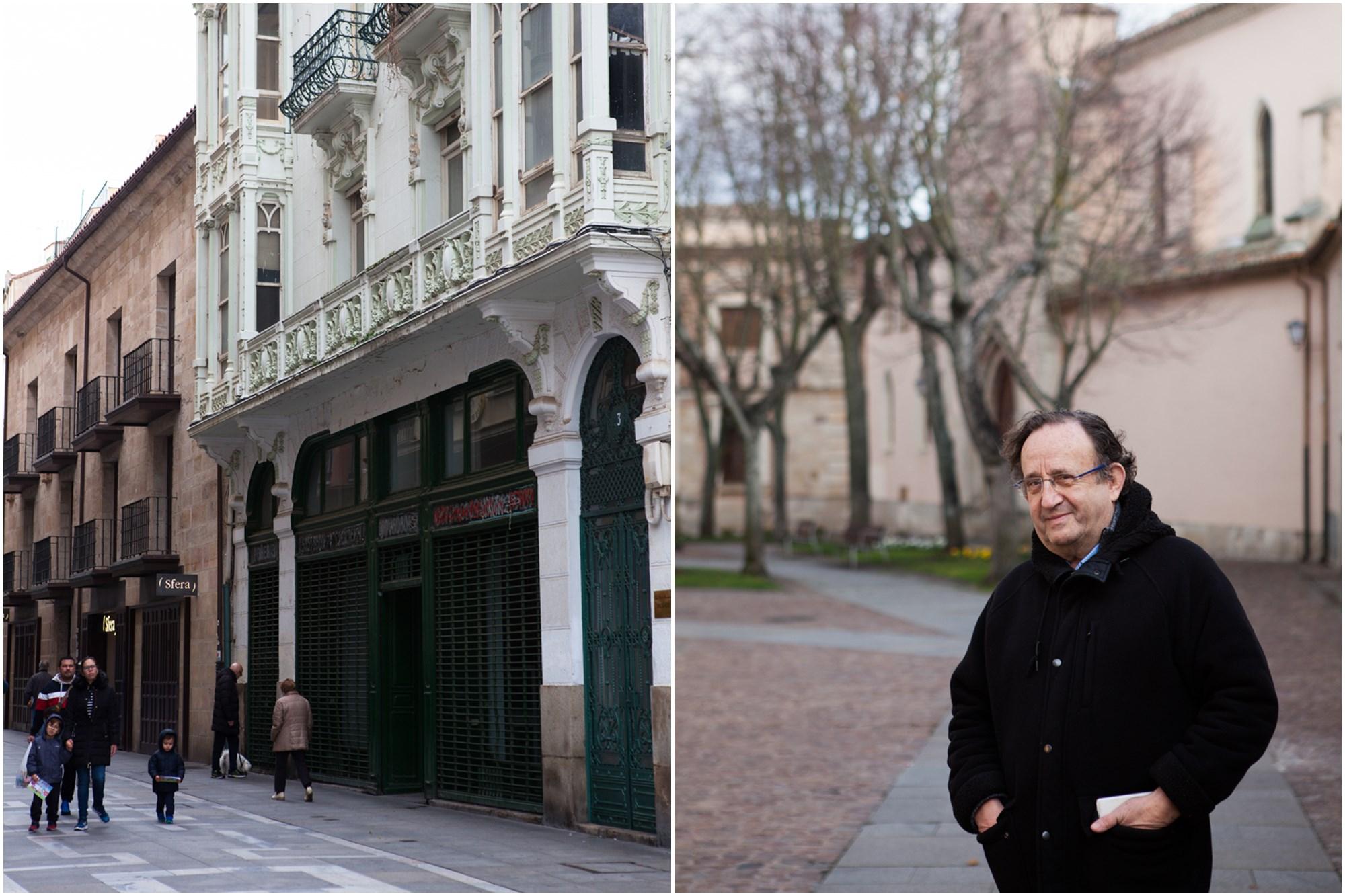 El arquitecto Paco Somoza y la casa de Fernando Rueda.