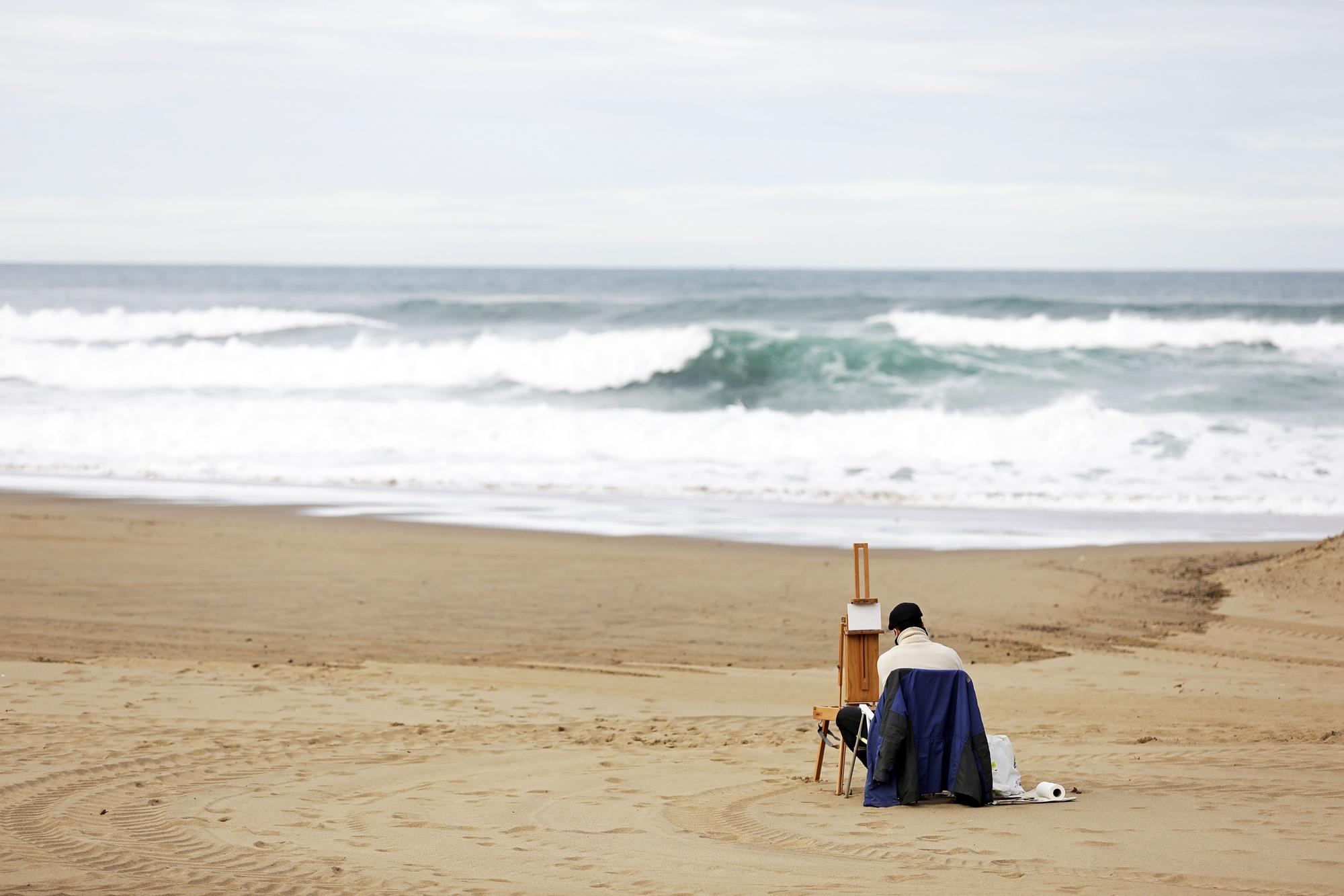 pintor playa