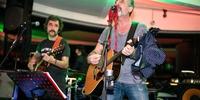 Fiesta Pre Gala Soles (San Sebastián) - Pepe y Diego en el escenario con ropa interior