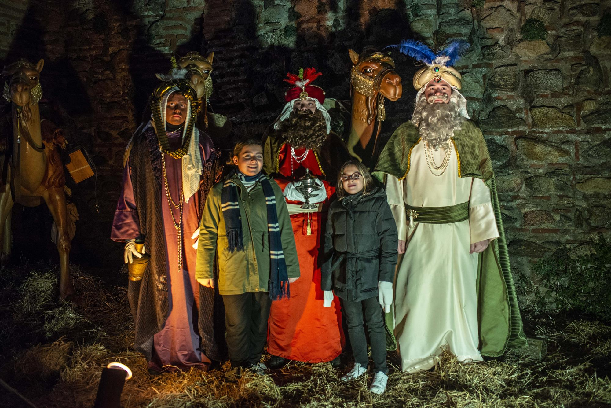 La visita a los Reyes Magos de Oriente, una de las paradas más ilusionantes para los más pequeños.