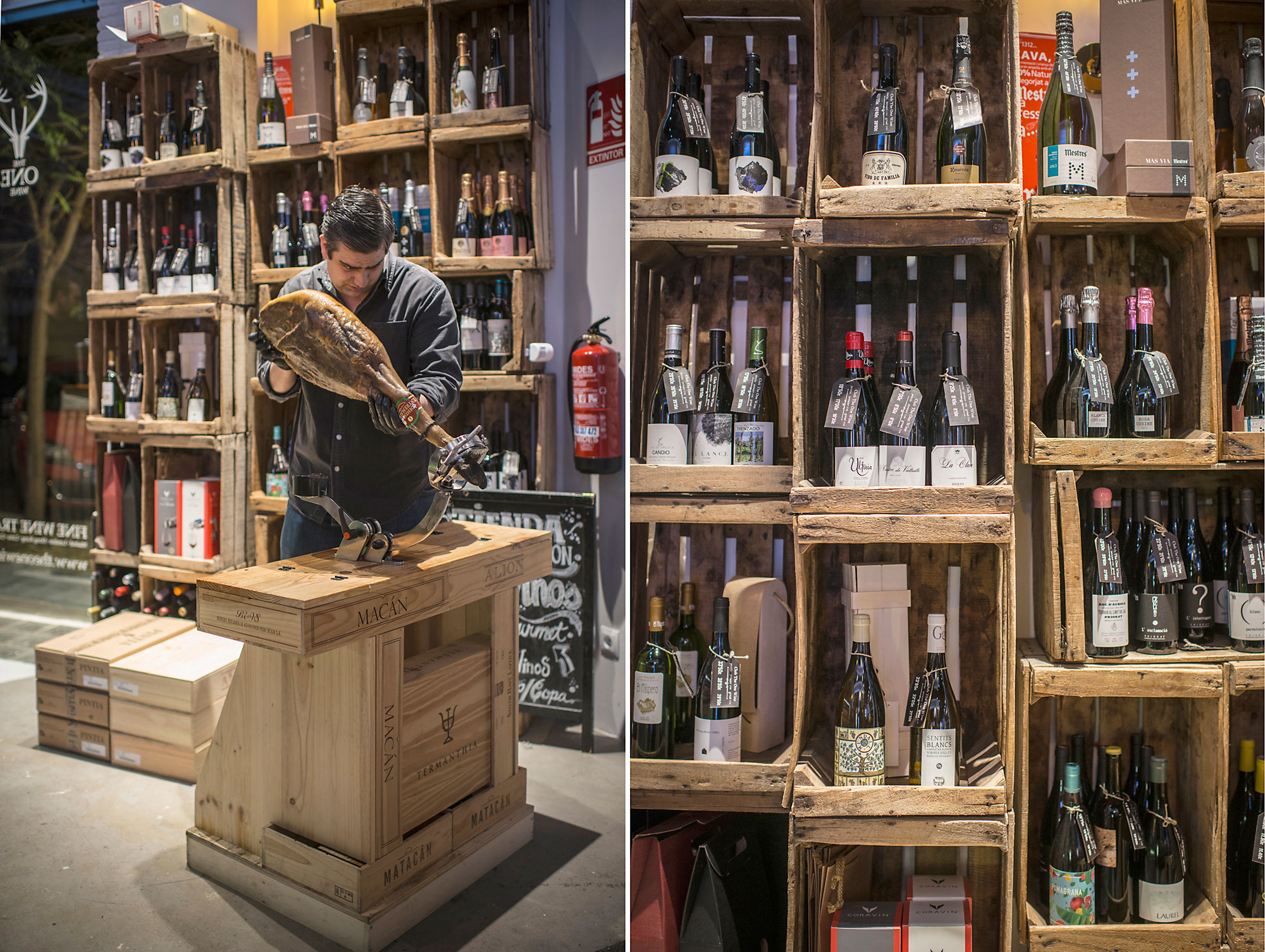 Una cuidada selección de ibéricos y salazones redondean la experiencia del vino.