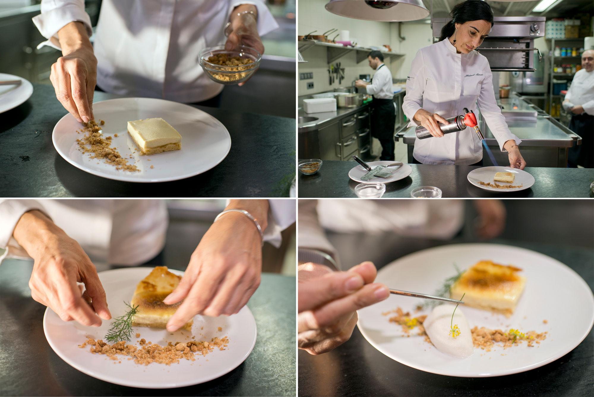 La cocinera lo llama el postre del paraíso. Y efectivamente, allí te lleva.