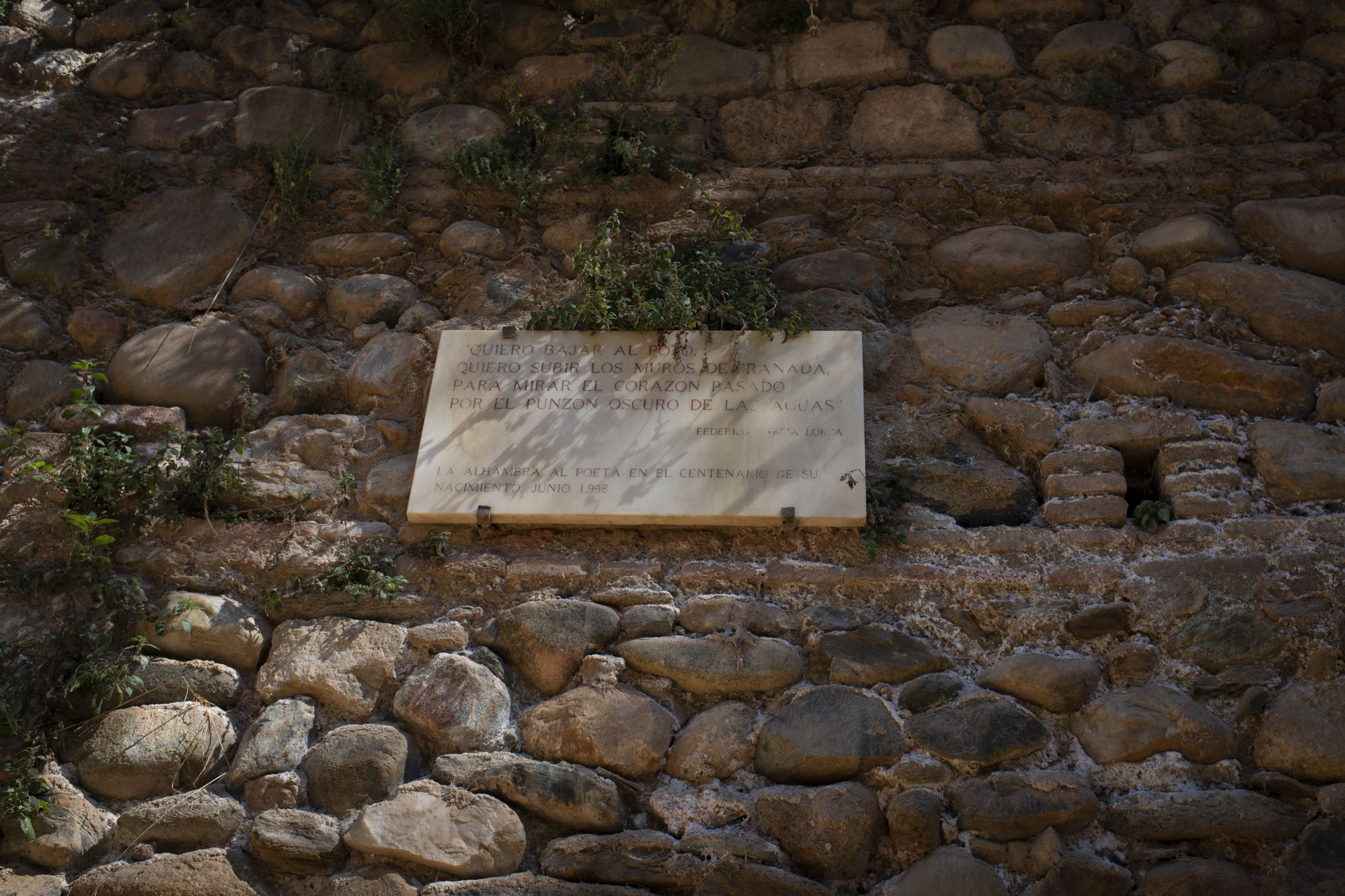 huella federico garcia lorca la Alhambra