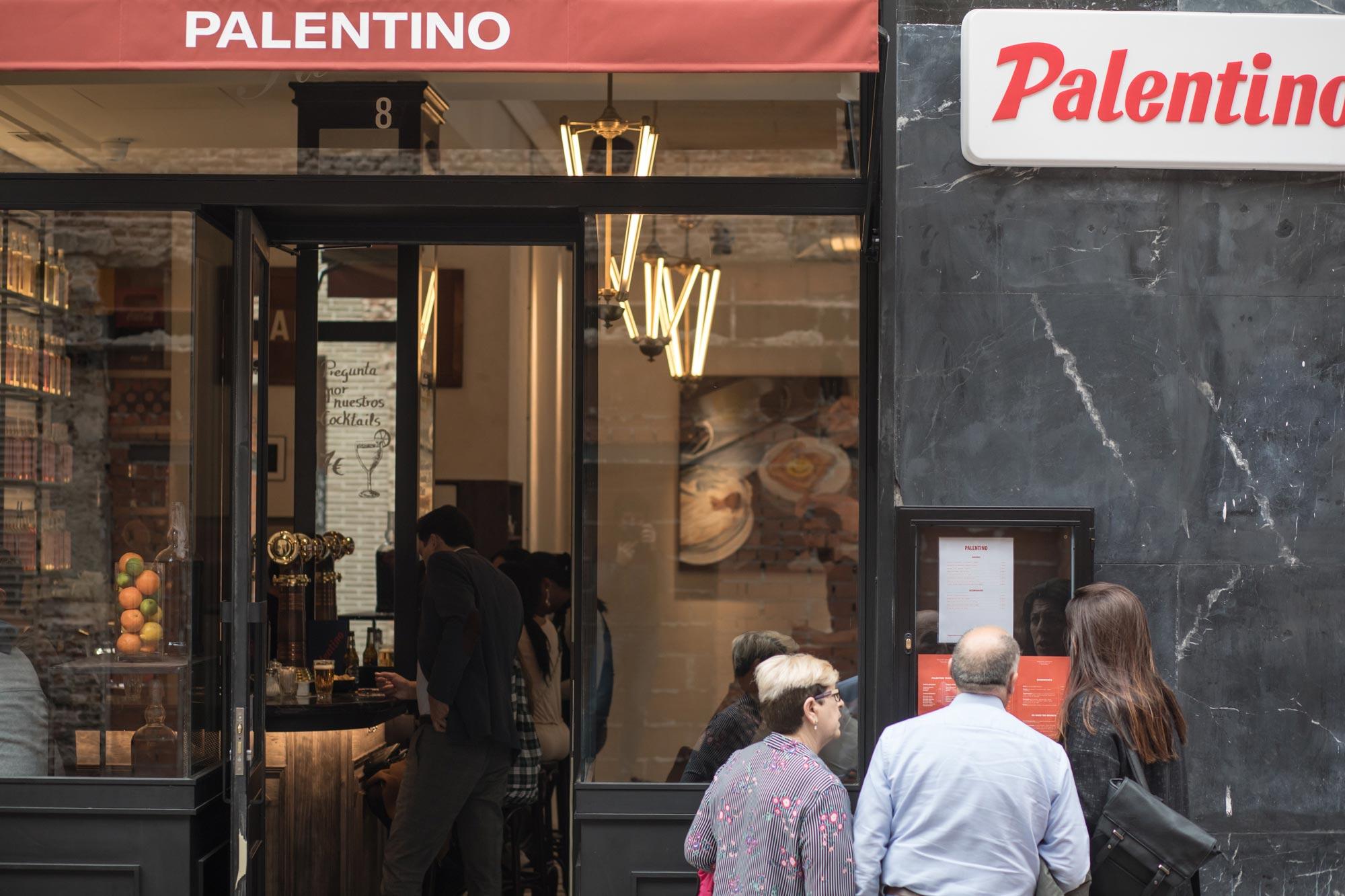 La fachada del Palentino.