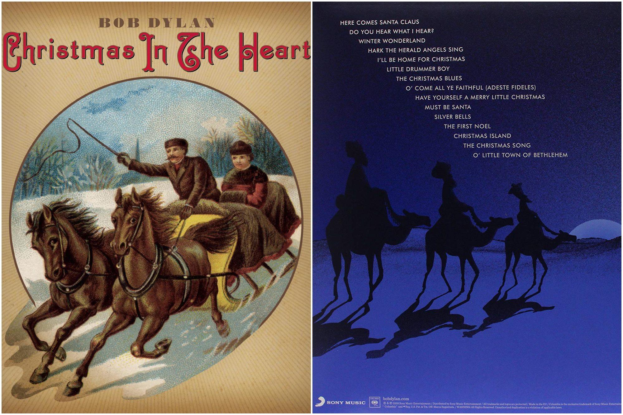 Clásicos motivos en la portada y contraportada de 'Christmas in the heart'. Foto: Amazon.