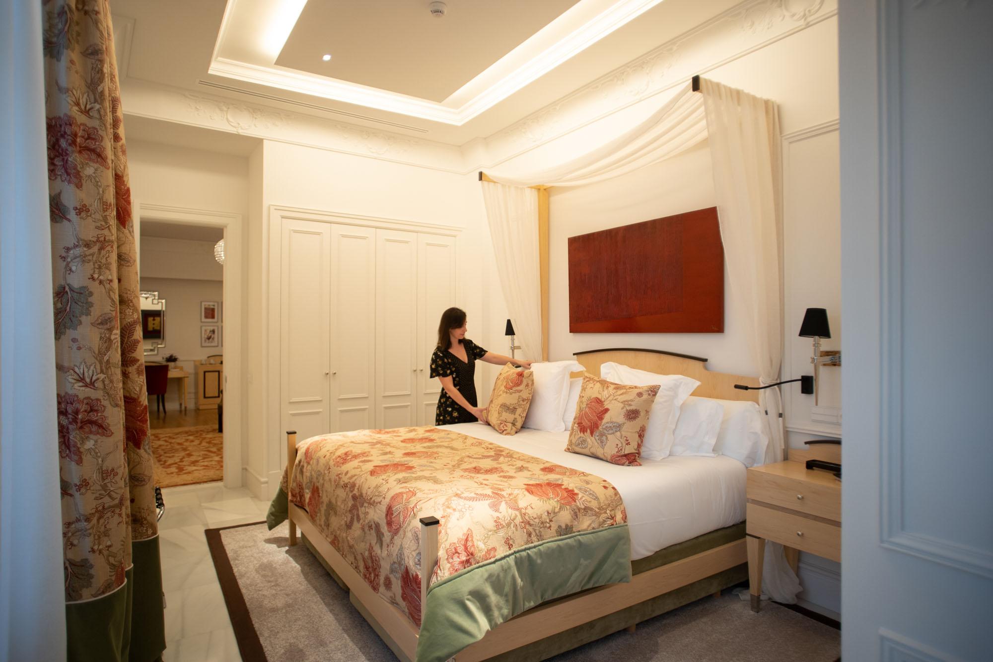 La suite María Luisa es la mayor habitación de todas. Su precio supera los 650 euros por noche.