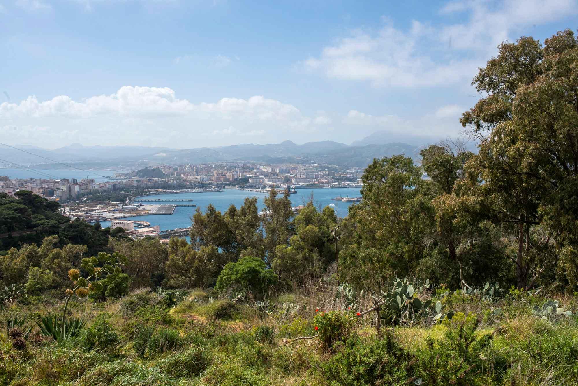 Vistas desde el Mirador de San Antonio en Ceuta.