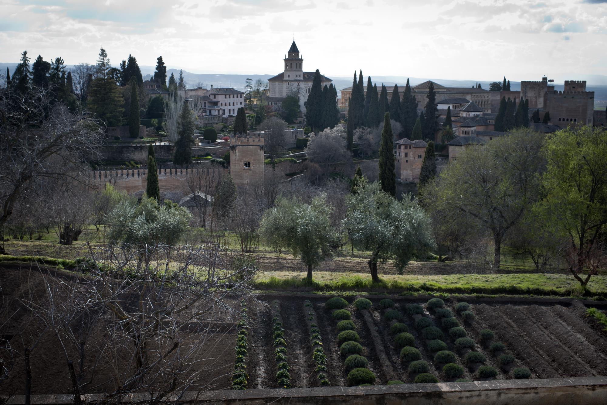 huertos generalife alhambra granada