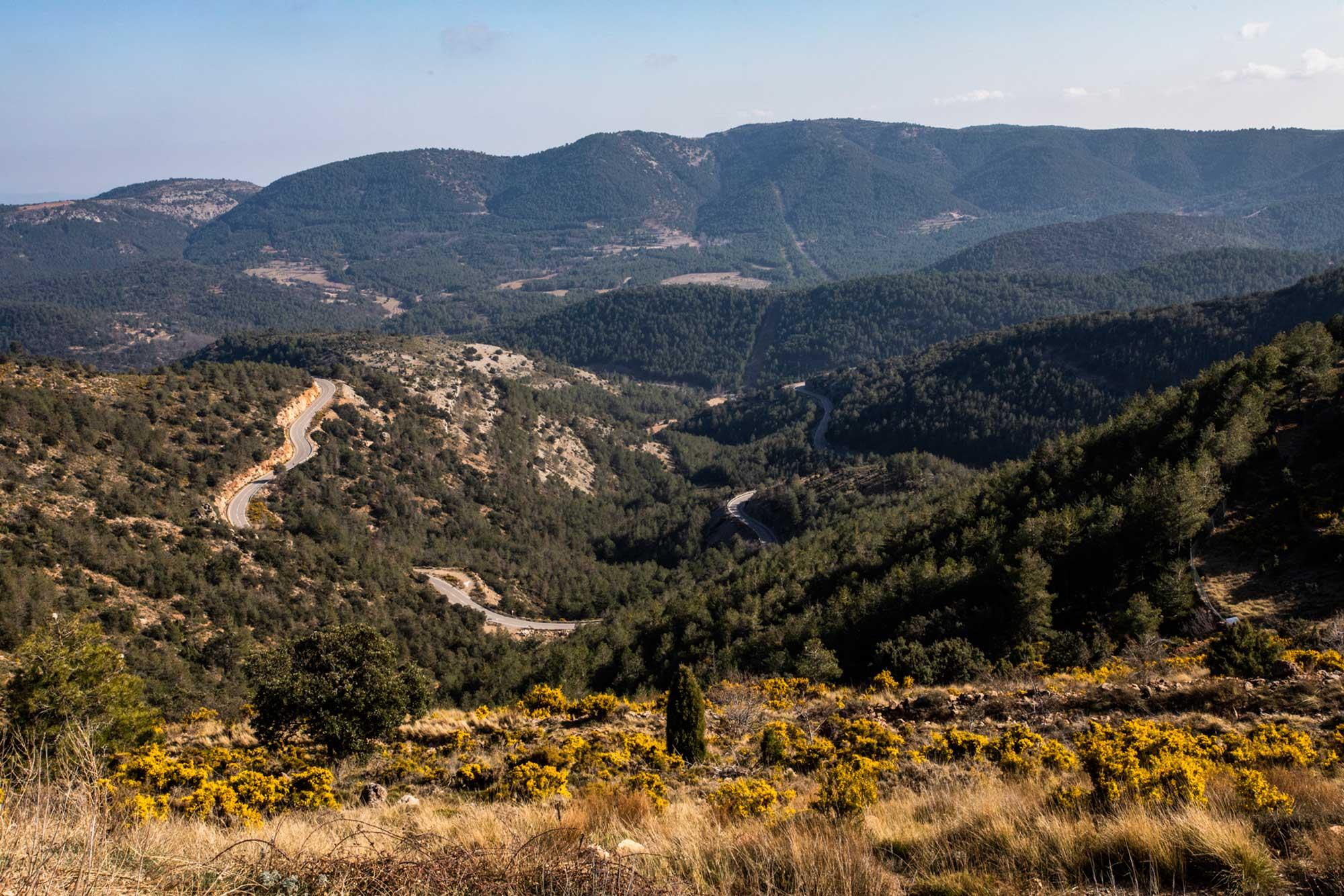 Las vistas desde el Mirador de Coll del Vidre.