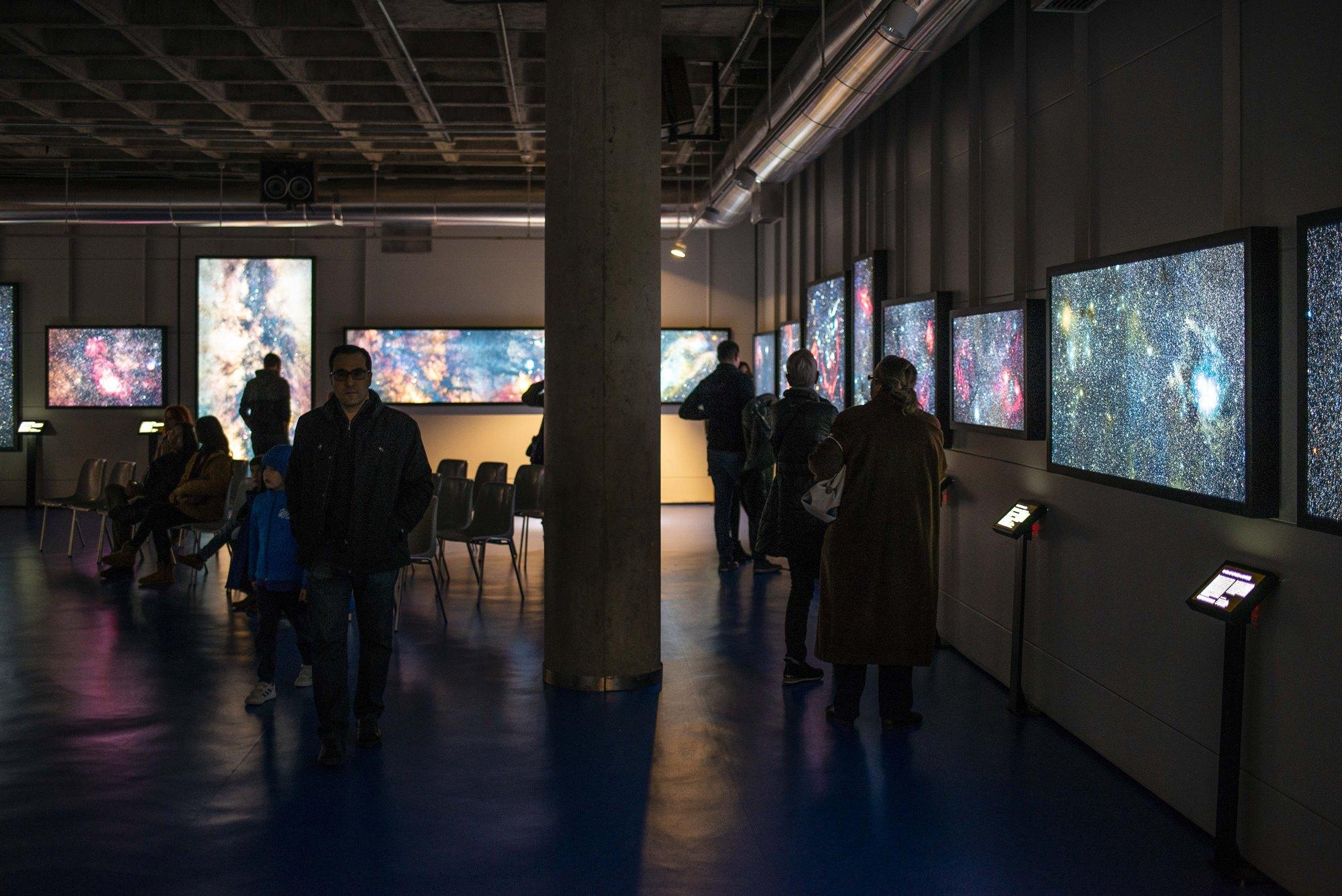 La sala del museo del Planetario, un lugar donde perderse.