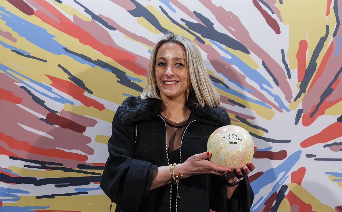 Photocall Gala Soles Guía Repsol 2020. Montserrat Montalvo ('El Celler de l'Arbocet').