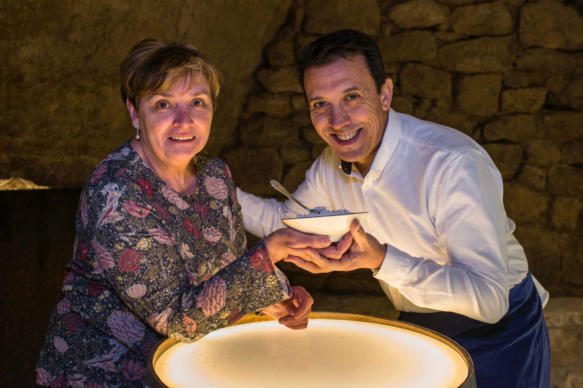 Chef y productor La Rioja: Francis Paniego y María, de Quesos Tondeluna