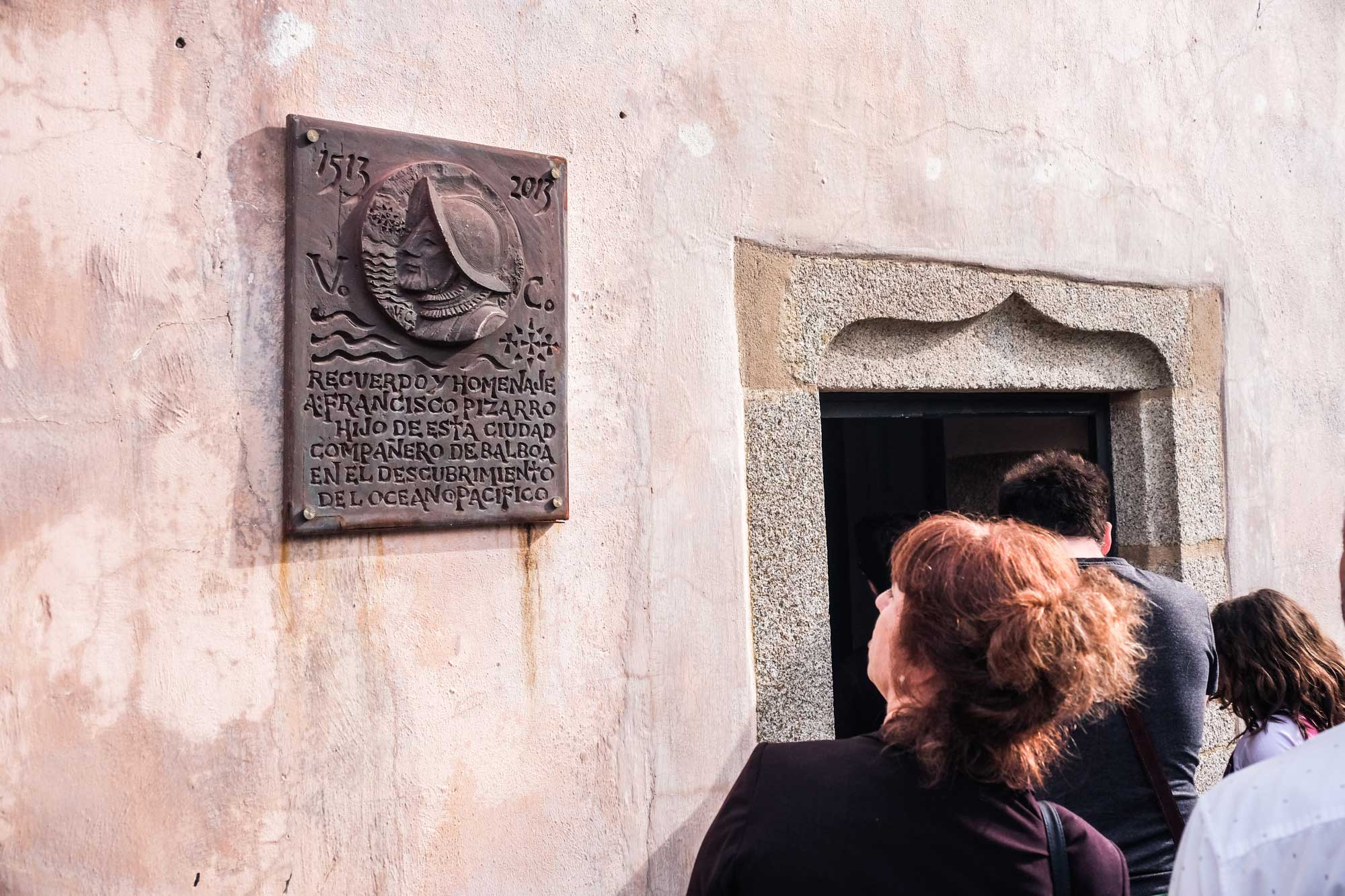 Entrada del Museo de Pizarro, en Trujillo, Cáceres.