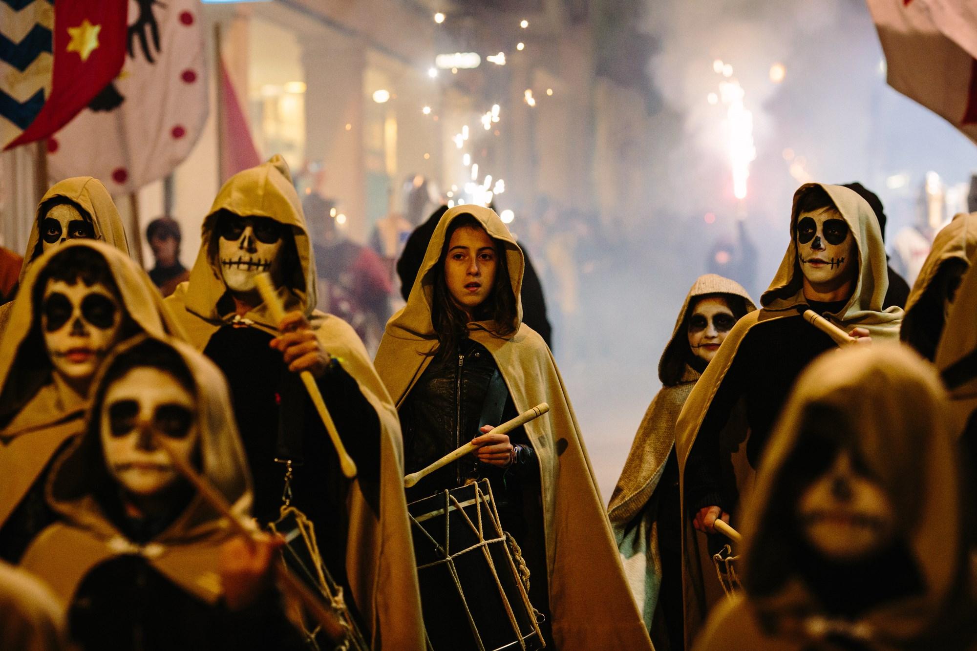 Desfile durante el Festival de las Ánimas, en Soria. Foto: Concha Ortega.