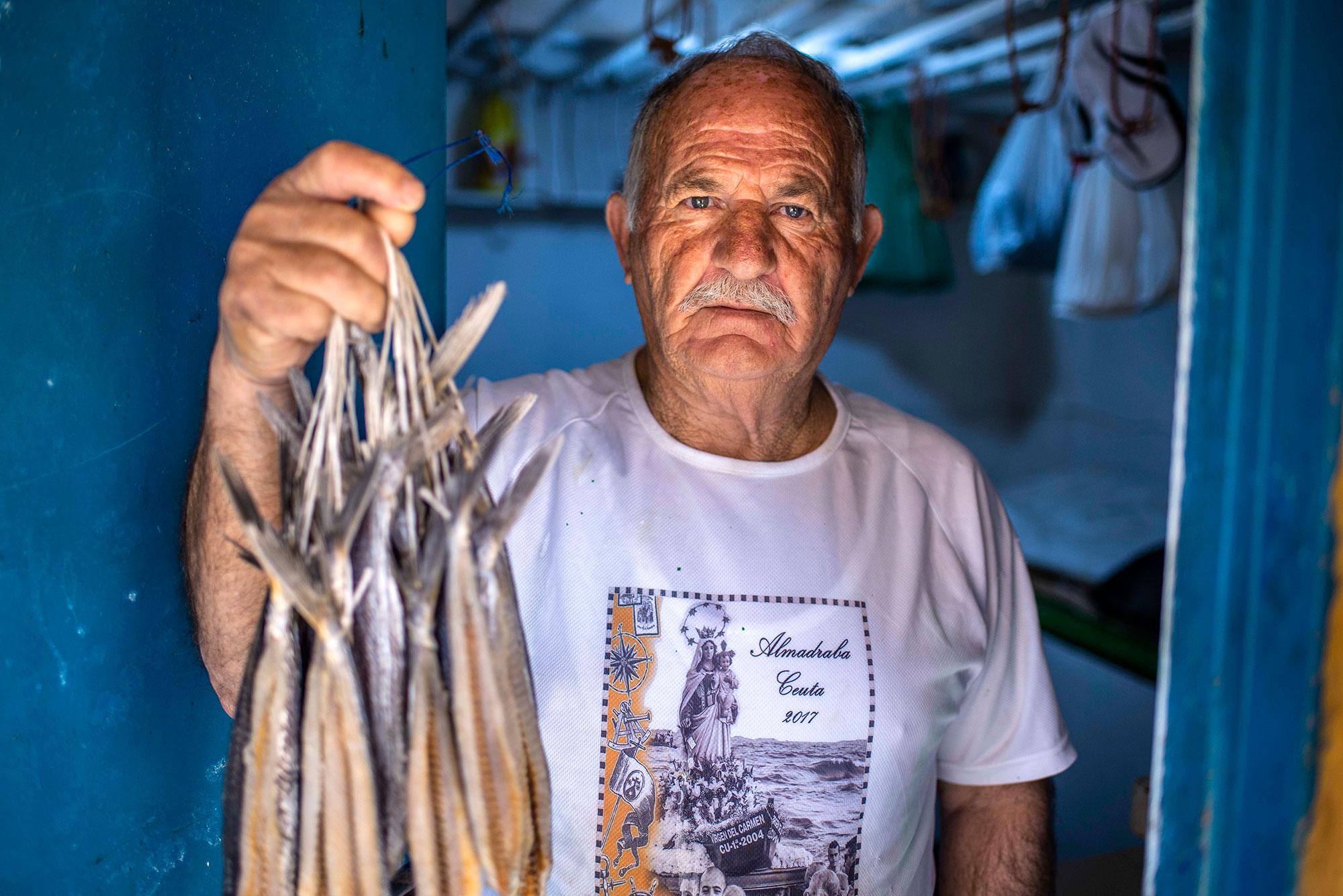 José de Marcos, de 71 años, maestro salazonero de Ceuta.