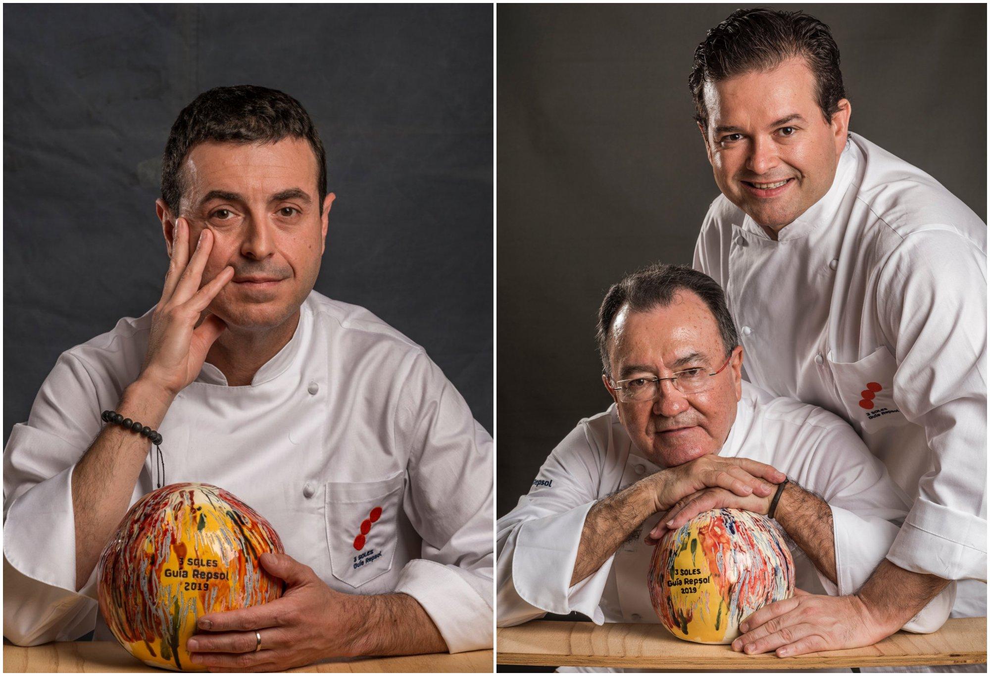 Los 3 Soles Guía Repsol: Ricard Camarena ('Ricard Camarena'), y Pedro y Marcos Morán ('Casa Gerardo').