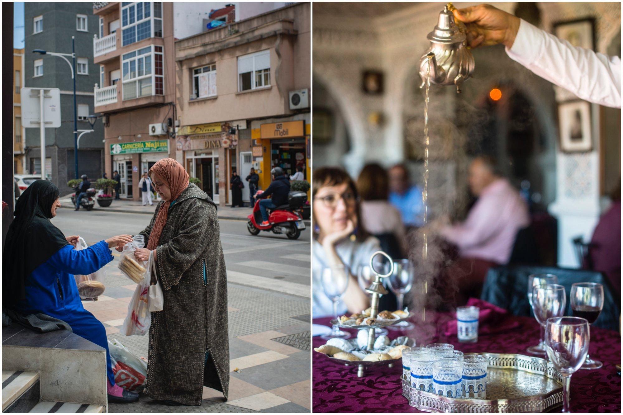 Ceuta: mujeres en el barrio de Hadú y sirviendo el té moruno