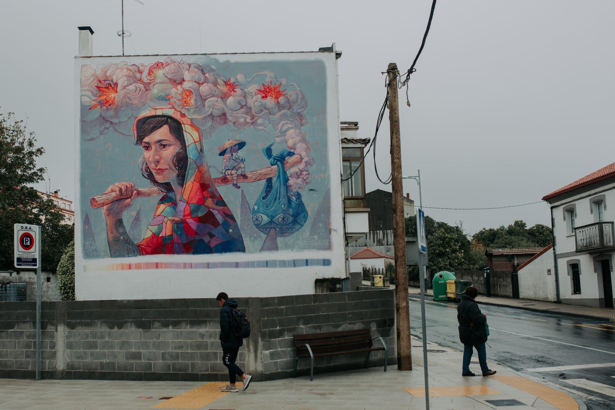 Street art en Ordes: 'Significado', de Miguel Peralta y Xoana Almar