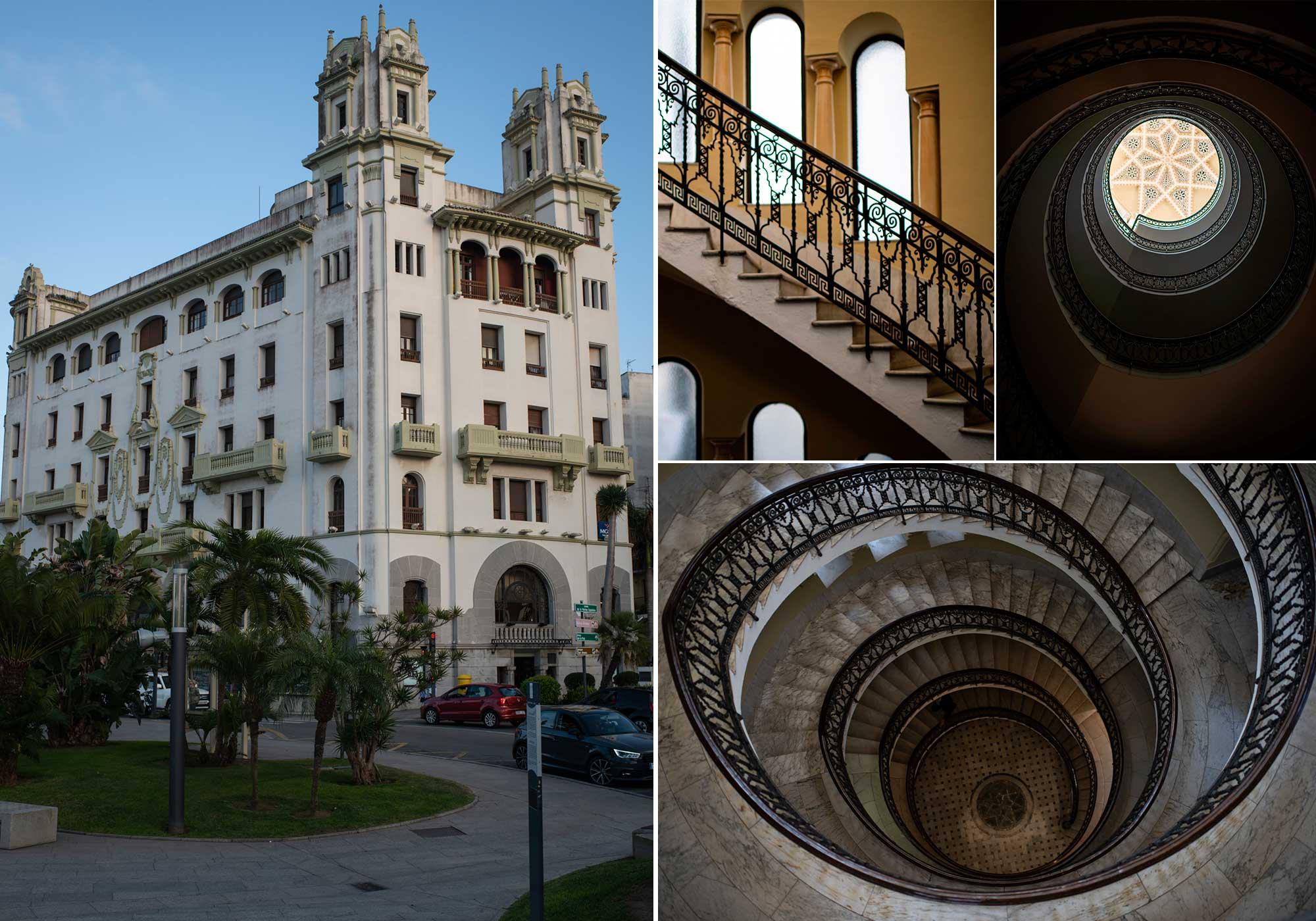 Fachada y escalinata del edificio Trujillo.