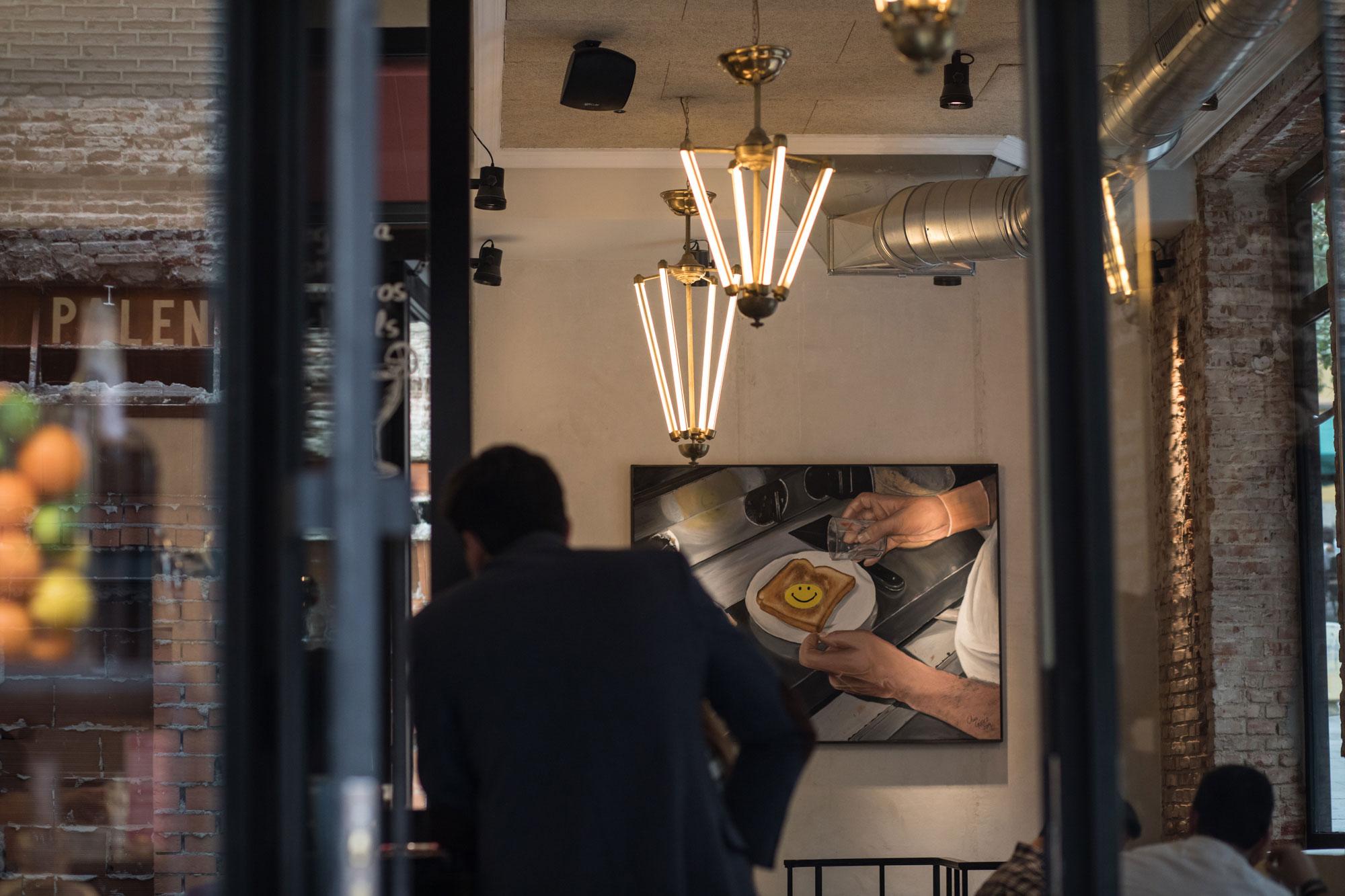 Las lámparas del bar Palentino.