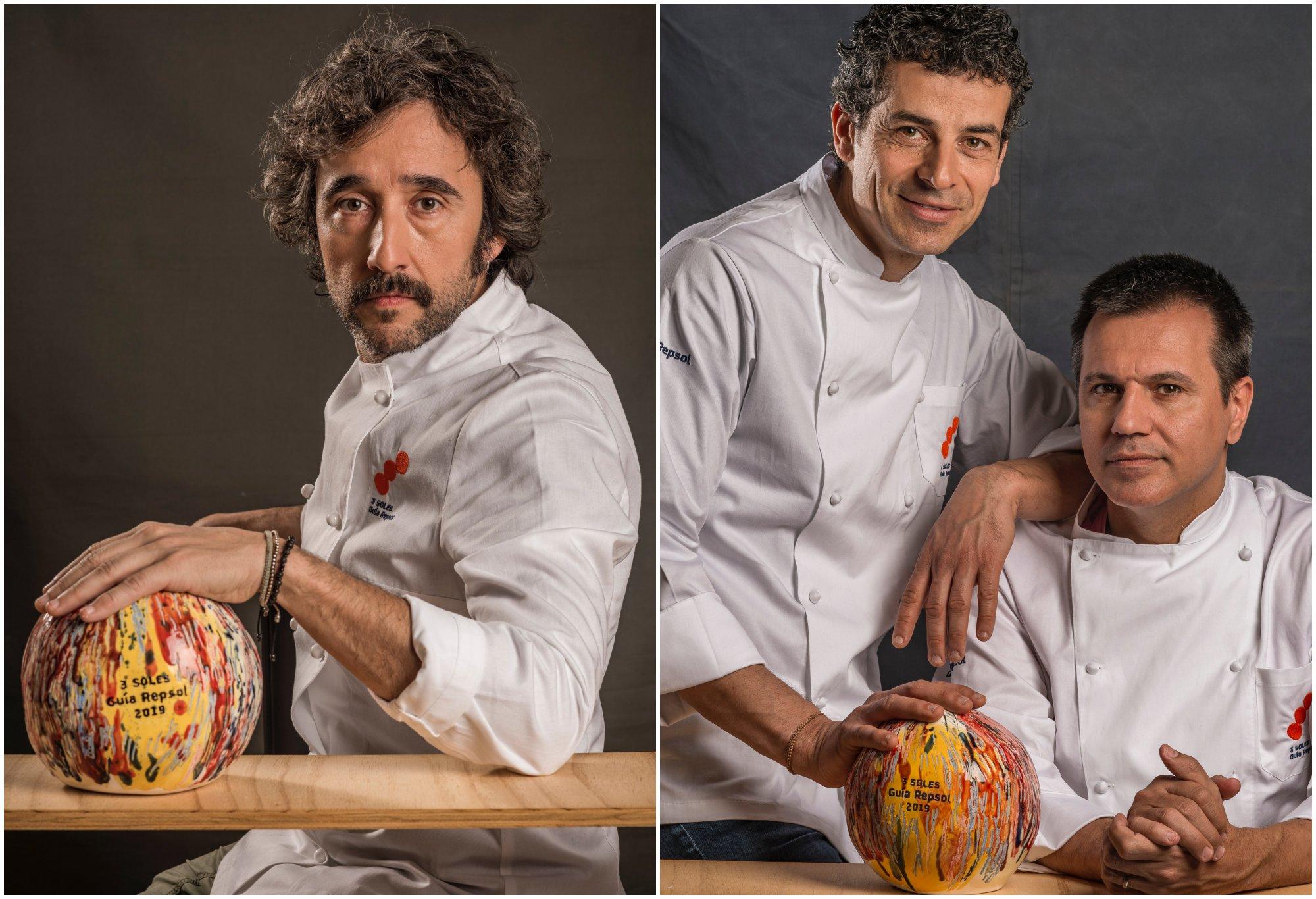 Los 3 Soles Guía Repsol: Diego Guerrero ('DSTAgE') y Mateu Casañas y Oriol Castro ('Disfrutar').