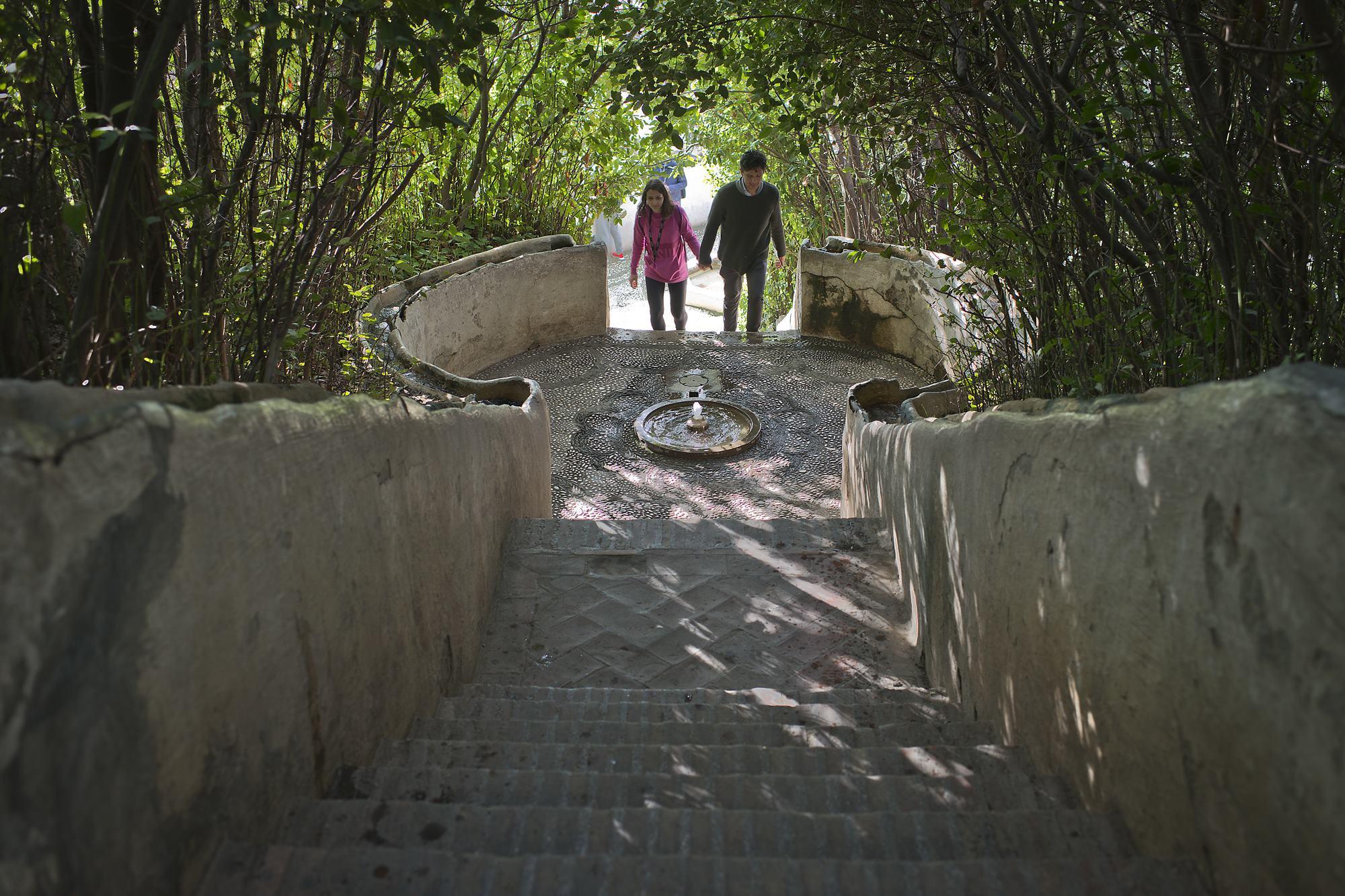 escalera del agua generalife alhambra granada