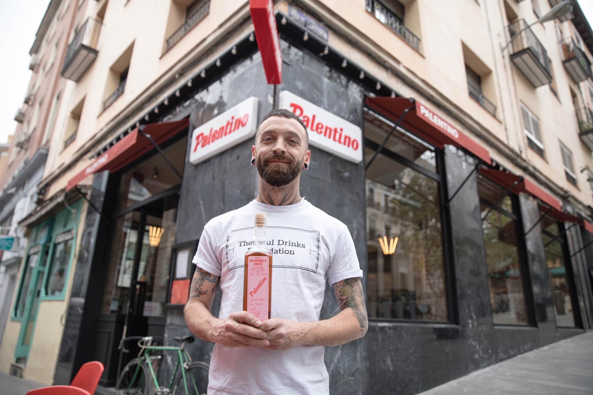 Bar Palentino, Madrid. Narciso Bermejo, uno de los socios del bar.