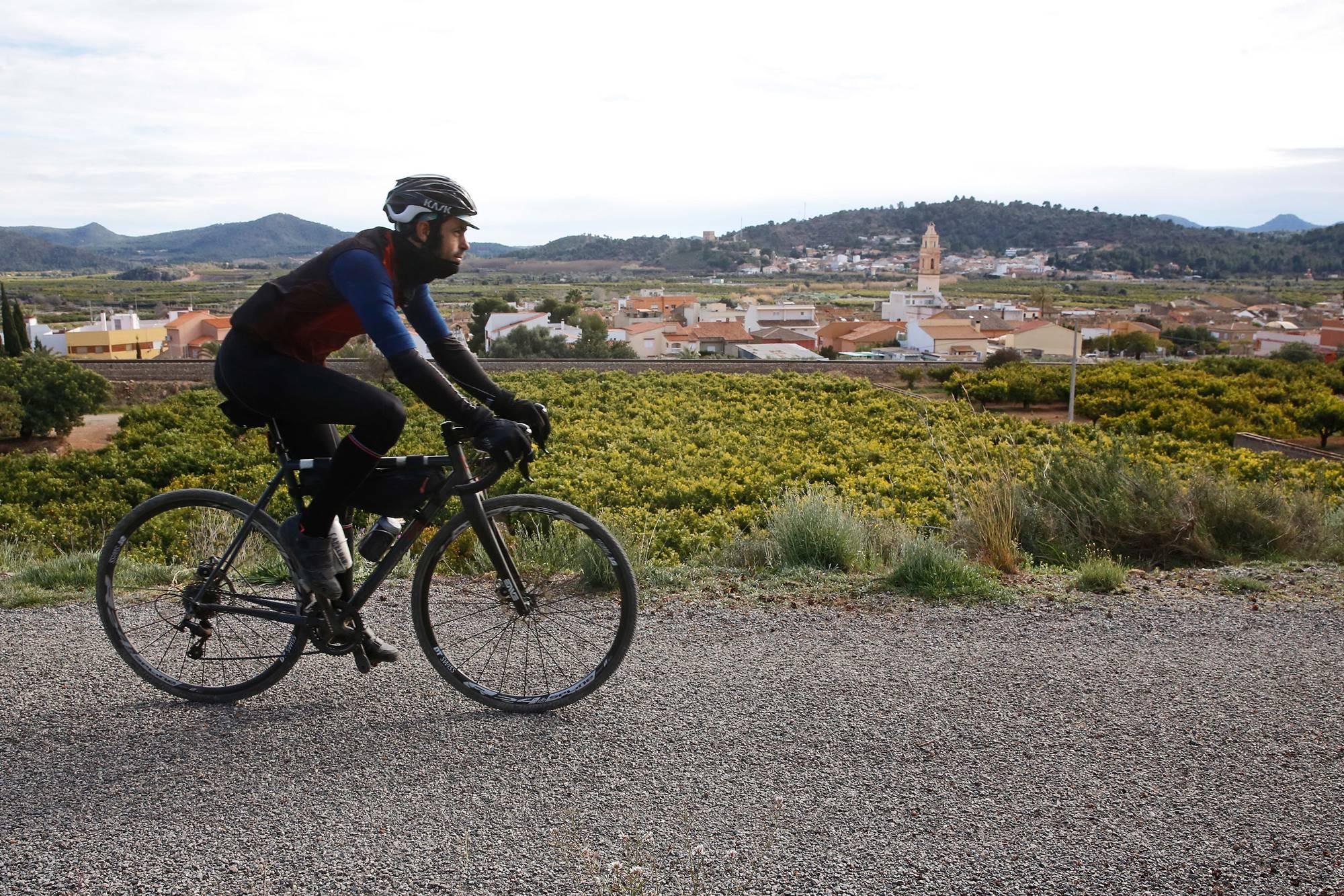 Algímia d'Alfara, ya en la provincia de Valencia, avisa del final de la travesía.
