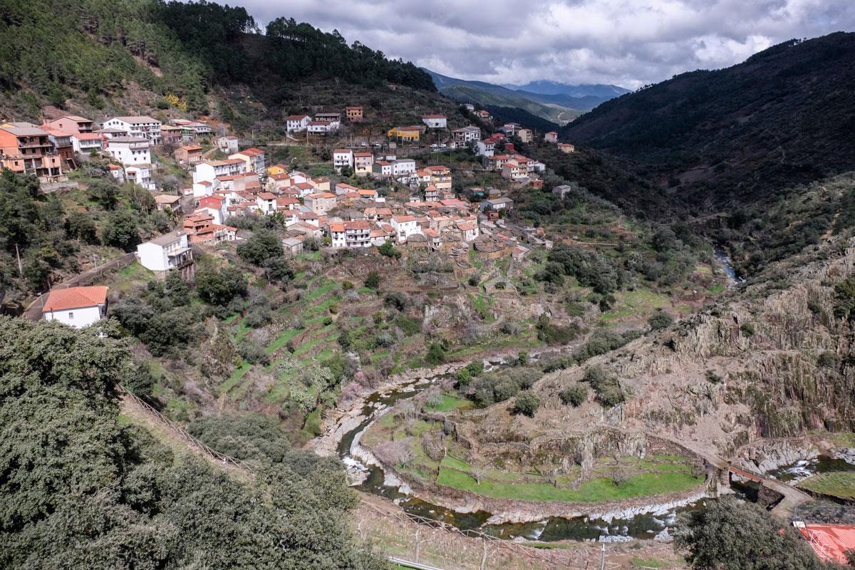 Vista desde el Mirador del Cottolengo en la alquería de Fragosa. Foto: Hugo Palotto.