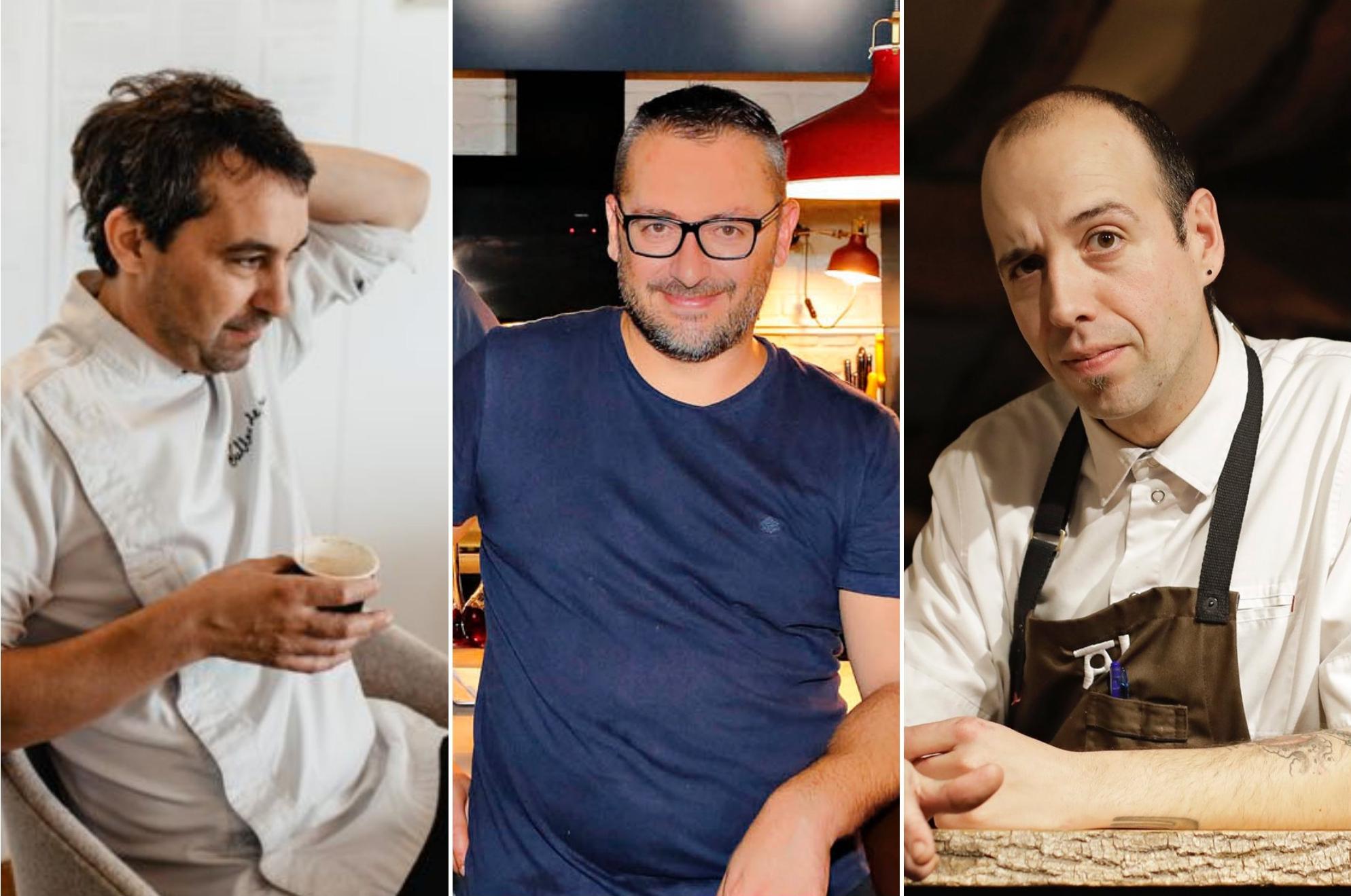 Chef de Conversaciones Heladas: Javier Olleros, Pedro Sánchez y Edorta Lamo.