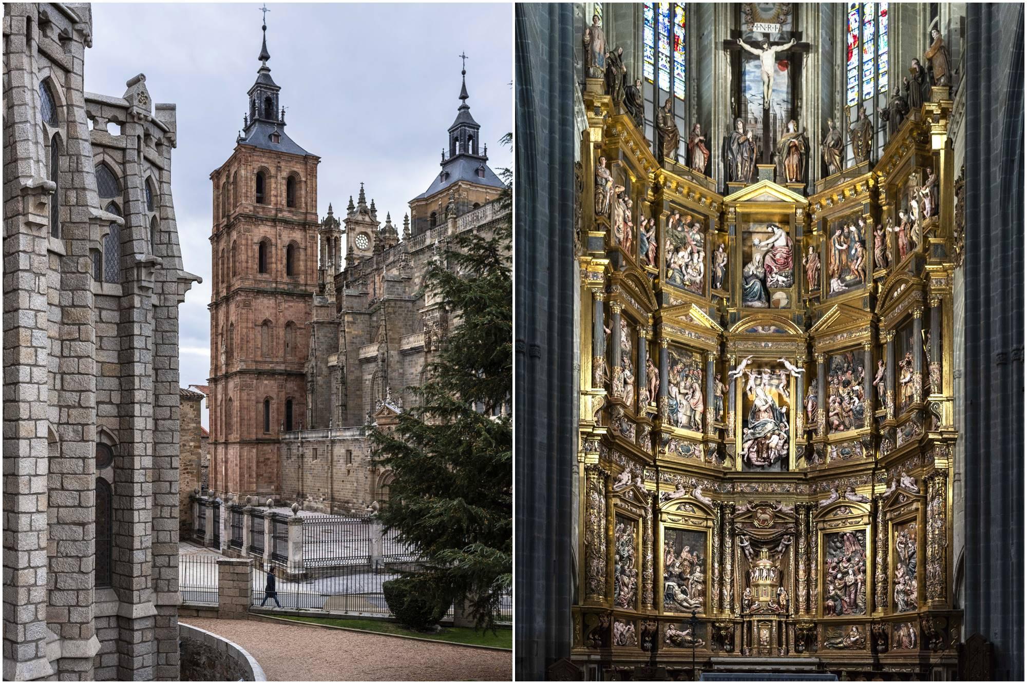 El retablo mayor, obra indispensable de Gaspar Becerra.