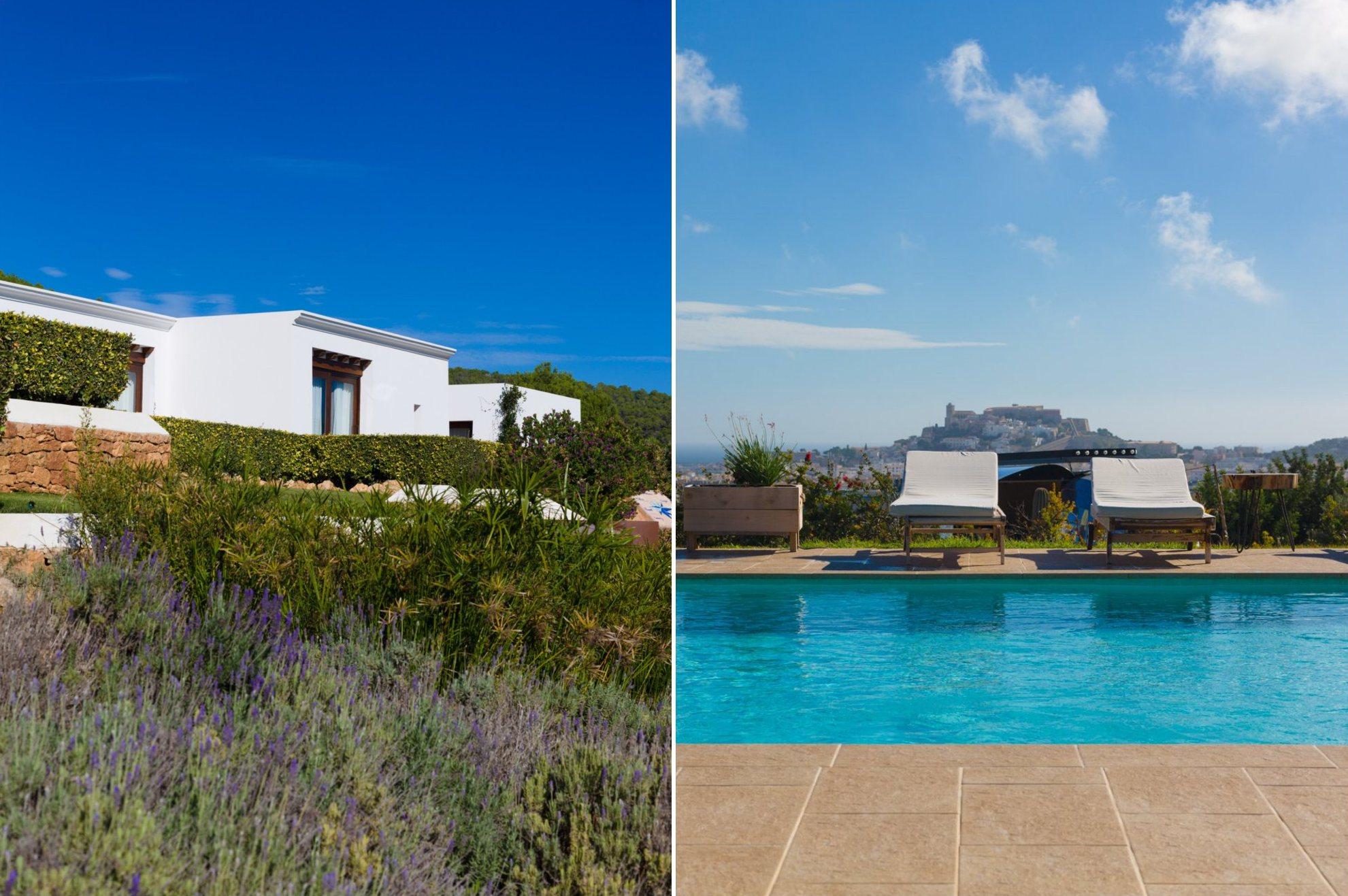 Las villas están rodeadas de árboles frutales, olivos. algarrobos y jardines de lavanda.