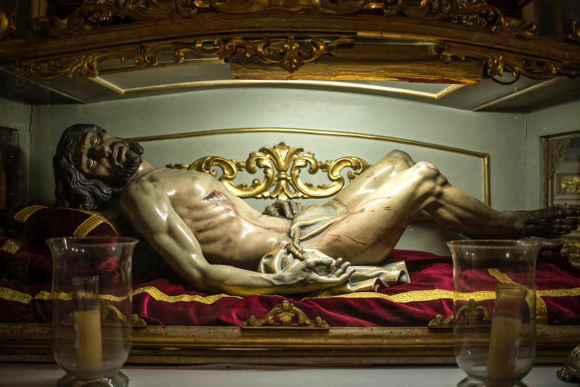 Ceuta: una de las imágenes de Cristo que procesiona en la Semana Santa