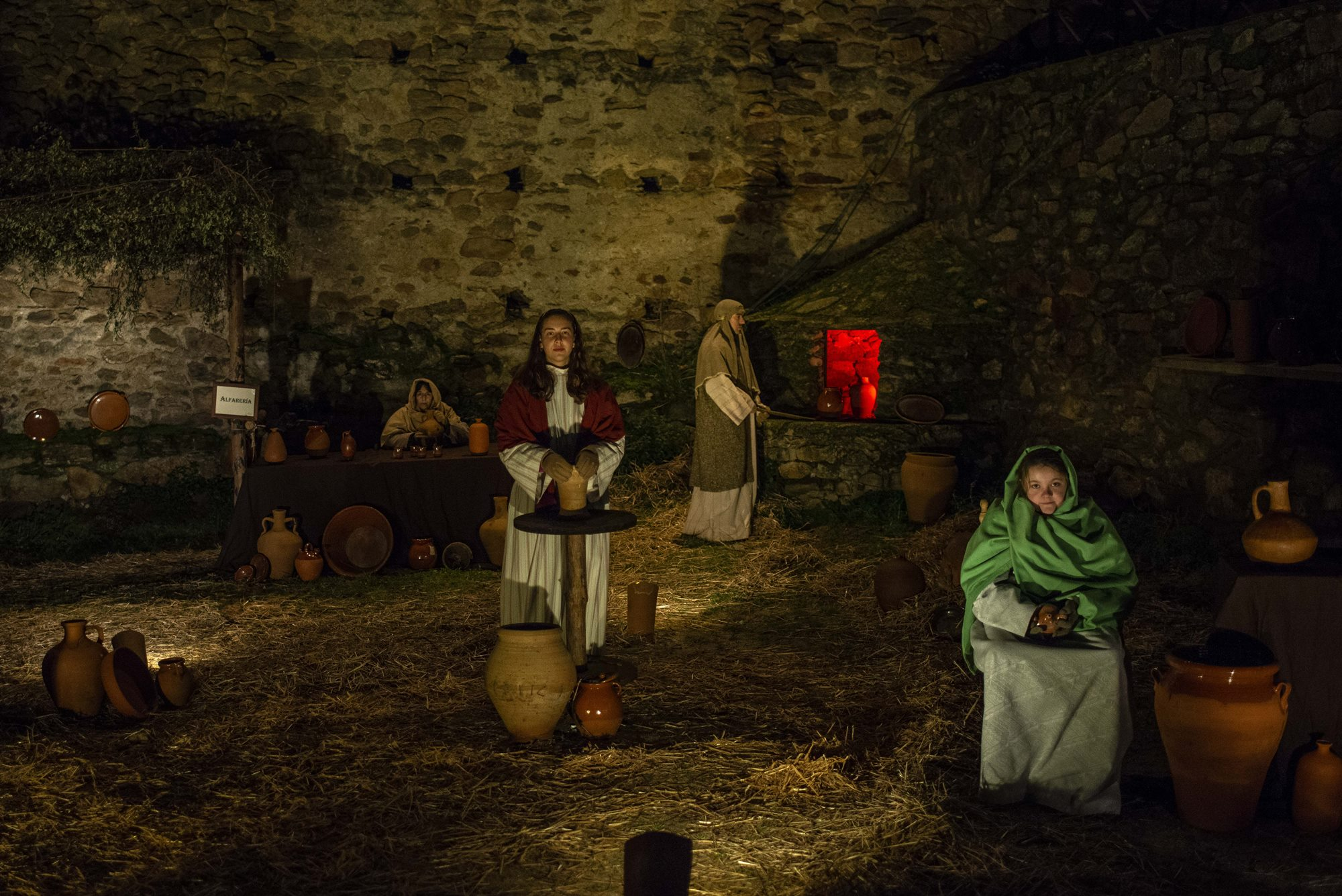 Los belenes vivientes, y sus alfareros cuentan con una tradición de varias décadas en la región.