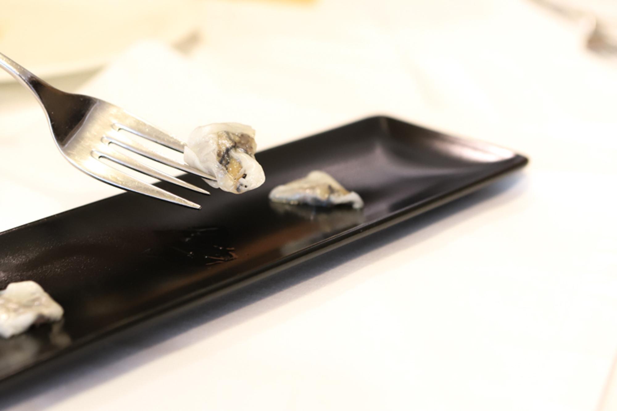 Tocino belarra con trufa, una de las delicias ultra calóricas de Jauregui.