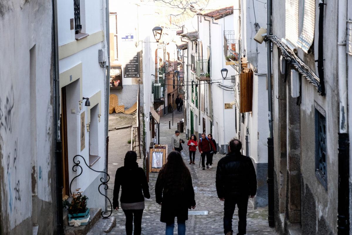 Las calles de la judería de Hervás, un lugar en el que perderse. Foto: Hugo Palotto