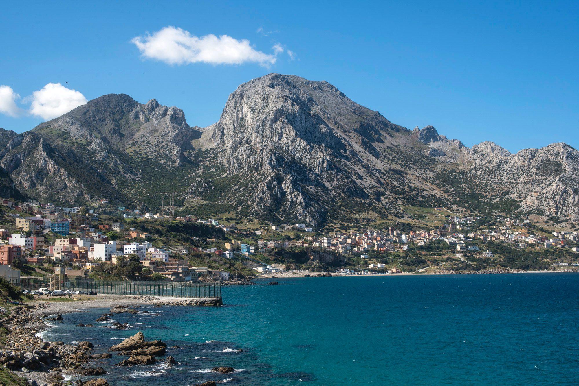 Mirador de Ceuta: La Mujer Muerta desde Benzú