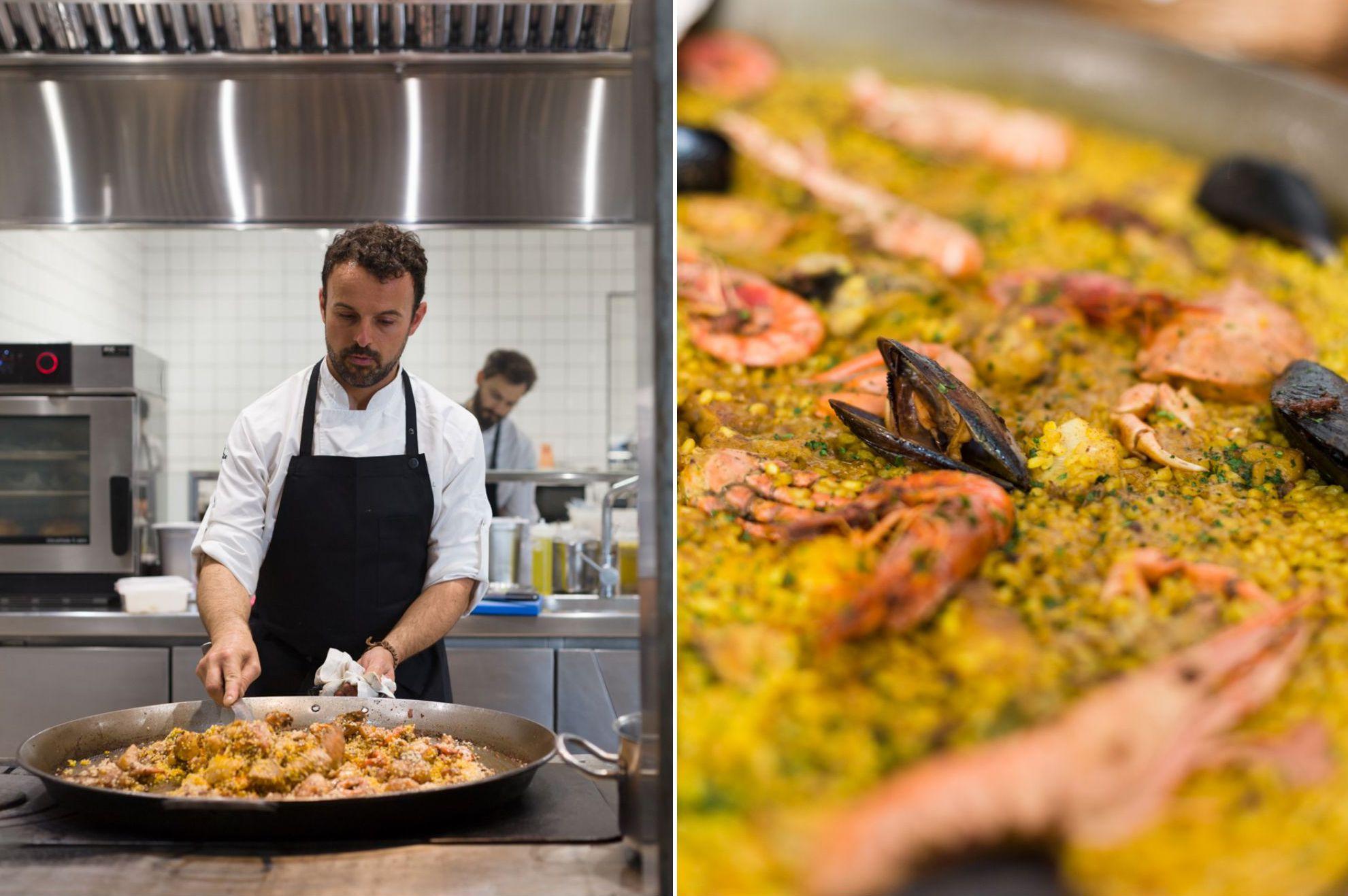 Restaurante 'Es Ventall': preparación de paellas