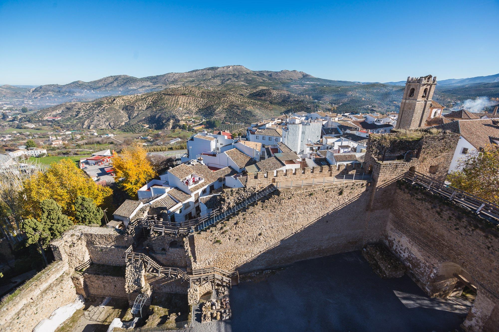Las vistas desde la muralla del castillo no decepcionan.