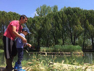 Pescar con niños en Guadalajara