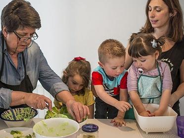 Receta para cocinar con niños