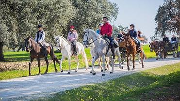 Ruta a caballo en familia por La Carlota (Córdoba)