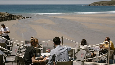 Terrazas gallegas con vistas al mar
