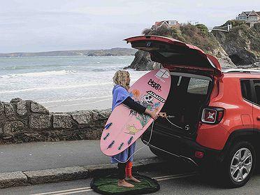 La maleta del surfero