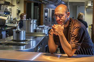 Luis Alberto en la cocina de Lera. Foto: Alfredo Cáliz