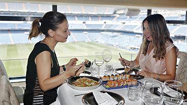 Restaurantes en estadio de fútbol: 'Zen Market' (Santiago Bernabéu, Madrid)