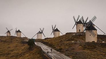 Los molinos mas importantes de España: Mota del Cuervo, Campo de Criptana y Consuegra