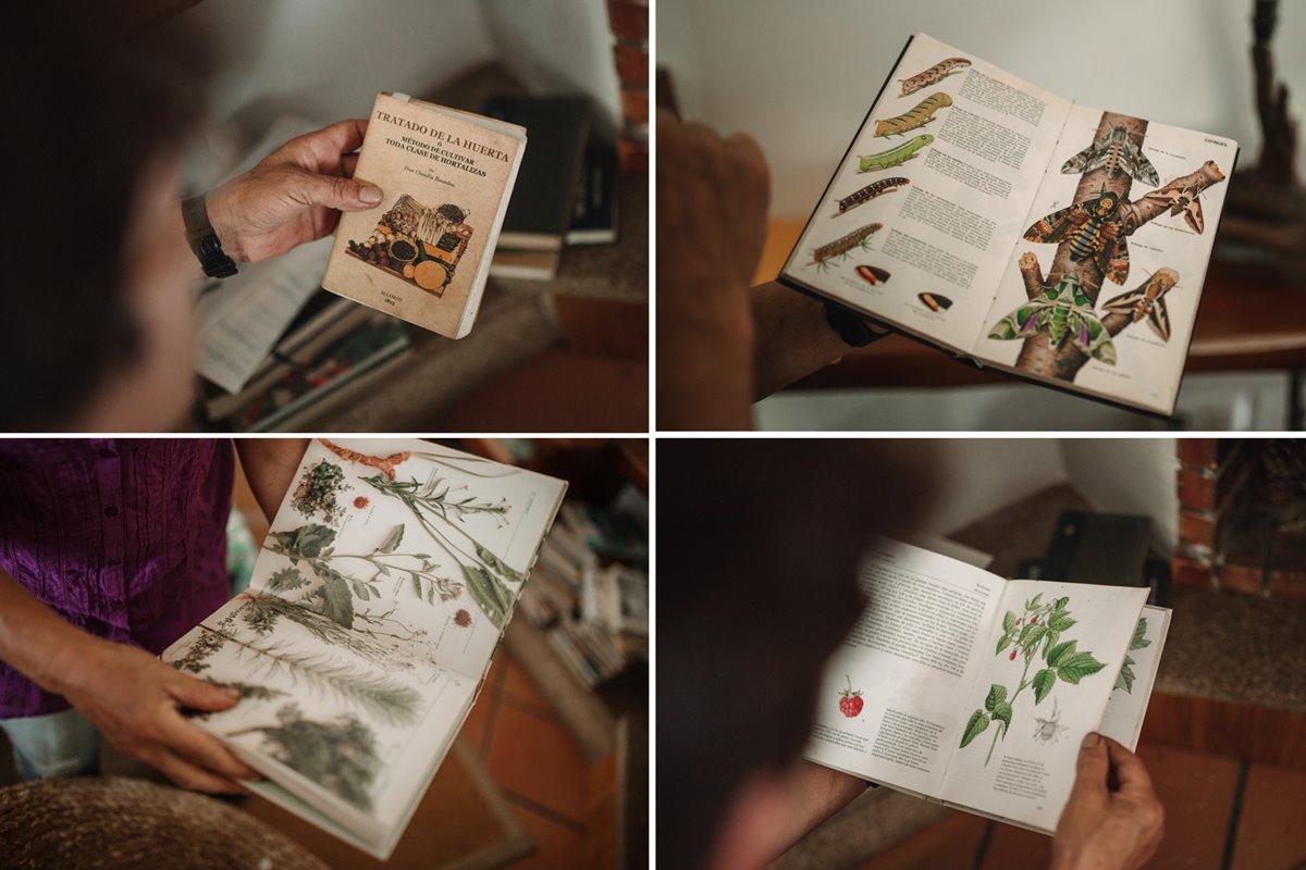 Los libros de Adelina, de sus posesiones más preciadas.