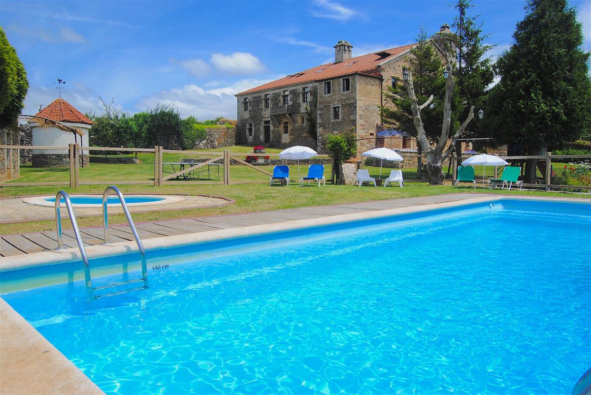 Y para el verano, ¡piscina! / Foto: Pazo de Souto